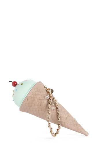 Betsey Johnson The Frozen One Clutch by Betsey Johnson - Red, Tan / Cream, Kawaii, Pastel, Quirky, Better, Green, Multi, Mint, Faux Leather, Gals