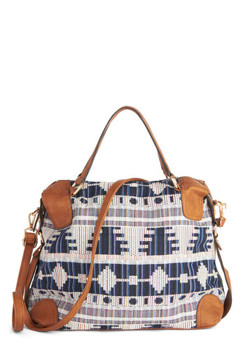 Scenic Landscape Bag - Multi, Tan / Cream, Print, Festival, Faux Leather, Blue, Casual, Boho