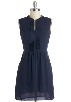 Sipping Punch Dress in Navy