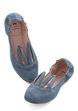 Little Bunny Shoe Shoe Flat in Blue Grey