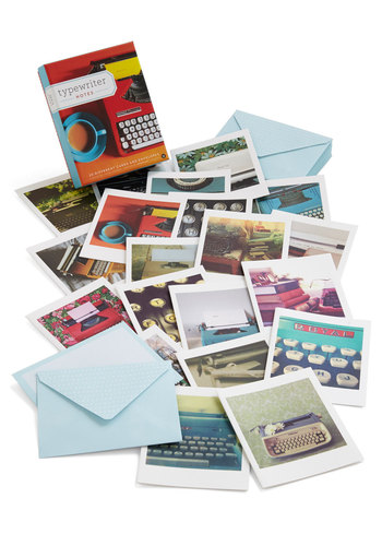 Just My Typewriter Notecard Set by Chronicle Books - Multi, Vintage Inspired, Mid-Century, Nifty Nerd, Good, Novelty Print, Under $20