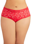 Hanky Panky Mellow Mornings Thong in Scarlet - Plus Size