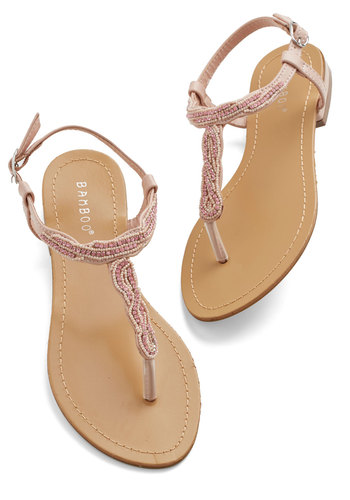 Bead Your Best Self Sandal - Low, Pink, Beads, Wedding, Bridesmaid, Fairytale, Summer, Good