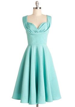 Aisle Be There Dress in Aqua