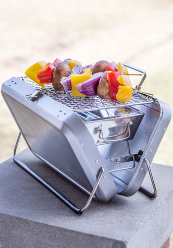 Cookout Crusader Portable Grill - Silver, Festival, Best, Solid, Travel, Summer, Americana, Guys, Boho