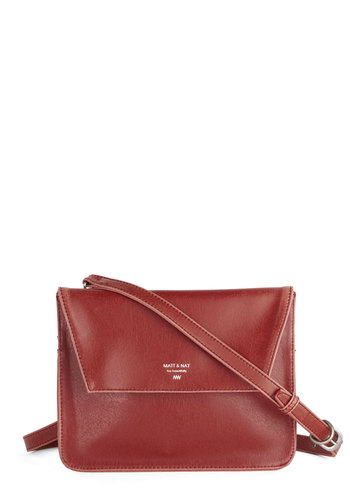 Really Going Places Bag - Faux Leather, Red, Solid, Luxe, Minimal, Red, International Designer, Gals