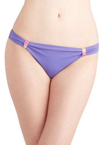 To Stay or to Indigo Swimsuit Bottom - Good, Purple, Multi, Solid, Stripes, Summer, Knit, Beach/Resort