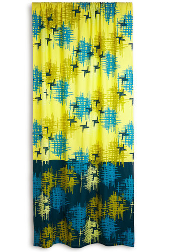 Modern Wing Curtain - 50s, Mid-Century, Better, Cotton, Woven, Yellow, Blue, Print, Vintage Inspired, Exclusives
