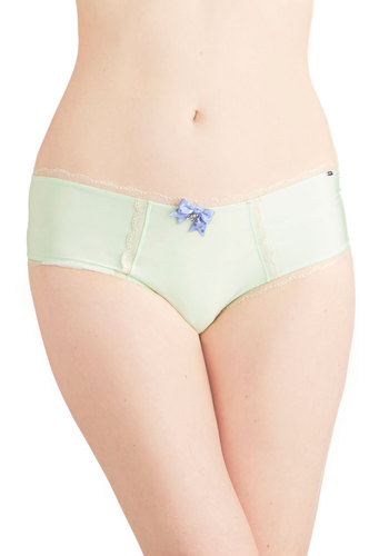 Menthe for Each Other Undies by Pretty Polly - Sheer, Knit, Lace, Bows, Lace, Trim, Special Occasion, Bridesmaid, Bride, Pastel, Mint, Wedding, Boudoir
