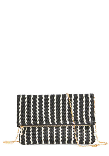 Curious at the Co-Op Clutch - Black, White, Stripes, Daytime Party, Beach/Resort, Nautical, Black