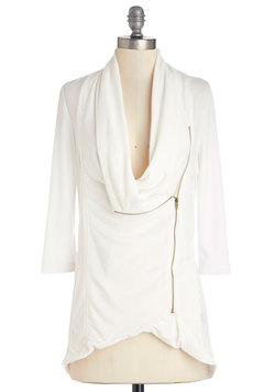 Portside Greeting Cardigan in White