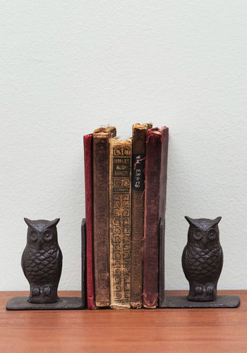 Versat-Owl Bookends - Black, Owls, Better, Critters, Guys, Woodland Creature, Rustic