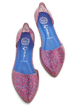 Confetti on the Dance Floor Flat in Pink