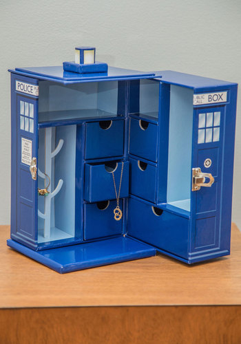 Bigger on the Inside Jewelry Box - Blue, Sci-fi, Nifty Nerd, Better