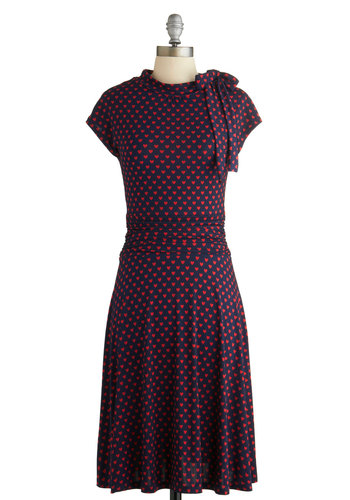 1930s dresses fashion Dance Floor Date Dress in Hearts