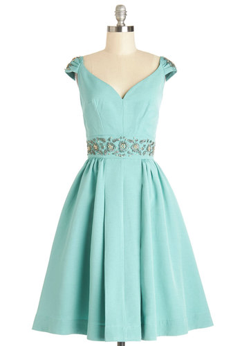 Shindig by the Skyline Dress in Aqua