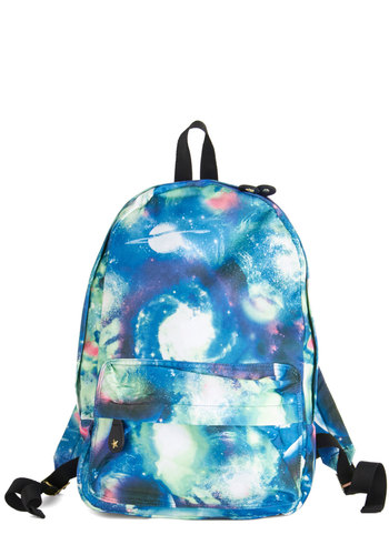 Star Out Backpack - Blue, Multi, Casual, Scholastic/Collegiate, Cosmic, Good, Woven, Novelty Print, Travel, Graduation
