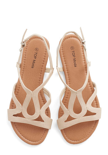 Cafe Circuit Sandal in Chai - Flat, Faux Leather, Tan, Beach/Resort, Summer, Good, Variation