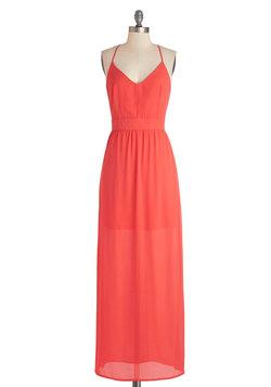 Horizon and Shine Dress in Orange