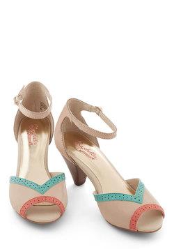 Stagefright Heel in Poised Pastel