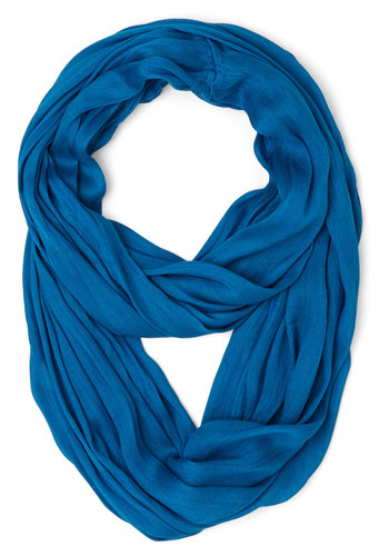 Brighten Up Circle Scarf in Cerulean - Blue, Solid, Casual, Good, Variation, Basic, Blue, Fall, Winter