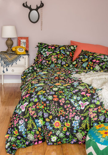 A Good Brights Sleep Duvet Cover Set in Twin - Cotton, Woven, Multi, Floral, Dorm Decor, Best, Summer