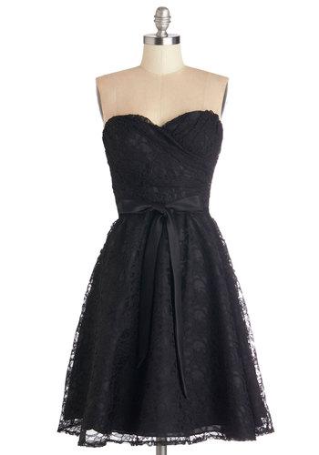 Dancing Upon Air Dress in Black