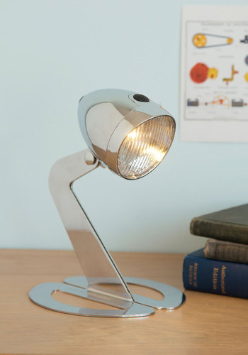 Riding on Inspiration Lamp - Silver, Solid, Dorm Decor, Mid-Century, Better, Graduation, Guys