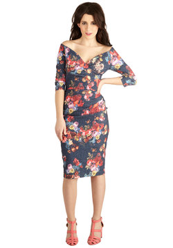 Presidential Personality Dress in Floral