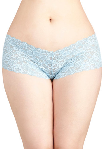 Time in Lace Undies in Powder Blue - Plus Size - Knit, Lace, Blue, Solid, Lace, Wedding, Bridesmaid, Bride, Pastel, Variation
