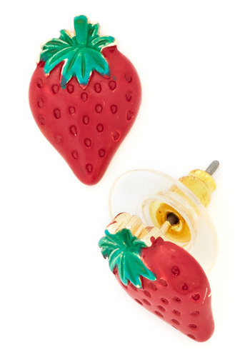 The Berry Best Earrings - Red, Green, Fruits, Good, Gold, Under $20, Darling, Exclusives