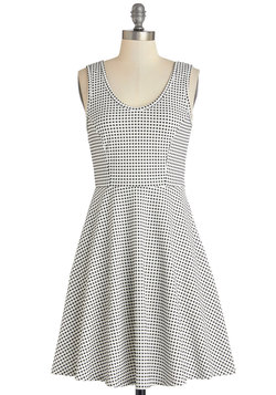 Checker Her Out! Dress