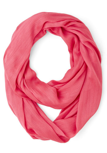 Brighten Up Circle Scarf in Watermelon - Coral, Solid, Casual, Good, Variation, Basic, Orange, Fruits, Social Placements, Fall