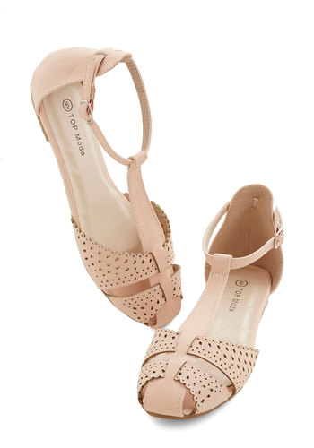 Sunset In Your Ways Flat in Blush - Flat, Faux Leather, Pink, Solid, Beach/Resort, Fairytale, Pastel, Summer, Good, Variation