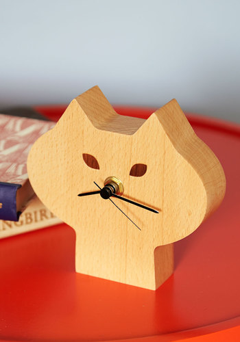 The Purr-fect Time Clock - Tan, Tan / Cream, Cats, Better, Critters