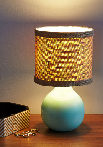 Call It a Craft Night Lamp - Boho, Better, Tan / Cream, Mint, Solid, Woven