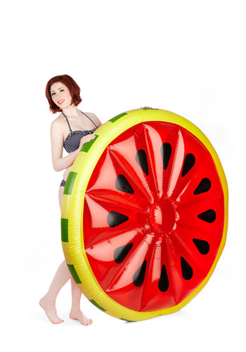 The Rind of My Life Pool Float - Multi, Fruits, Quirky, Summer, Good, Gals