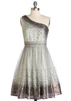 Starlight Hearted Dress in Mint