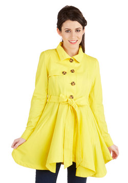 Just Called to Say Hyannis Coat in Yellow