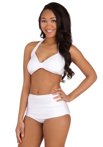 Bathing Beauty Two-Piece Swimsuit in White