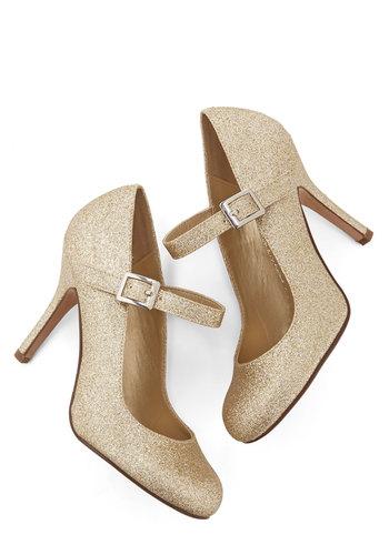 Yes I Candescent Heel in Gold $29.99 AT vintagedancer.com