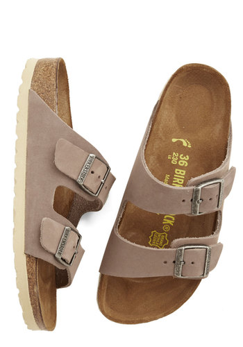 Strappy Camper Sandal in Taupe Leather by Birkenstock - Tan, Solid, Summer, Best, Variation, Boho, Festival, 90s