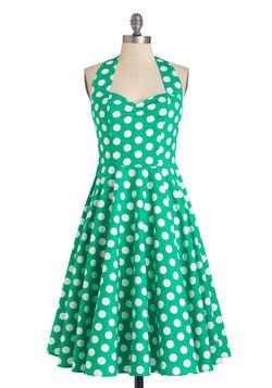 Like, Oh My Dot! Dress in Emerald