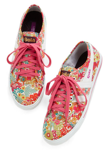 What a Field Day Sneaker by Gola - Pink, Multi, Floral, Lace Up, Woven, Casual, Better, Summer