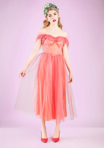 Vintage Starlit Soiree Dress