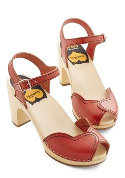 Heart and Soles Heel in Red