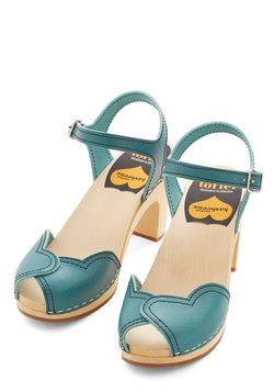 Heart and Soles Heel in Blue