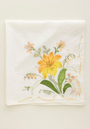 Vintage The Way We Waltzed Handkerchief