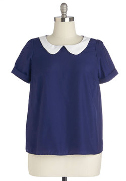 Guest Appearance Top in Navy in Plus Size
