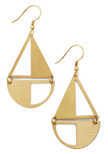 Rock the Sailboat Earrings by Mata Traders - Solid, Cutout, Gold, Better, Nautical, Eco-Friendly, Social Placements